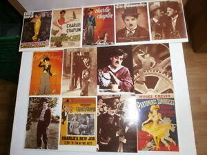 Konv-100-nostalgische-Postkarten-alte-Filme-Kino-Schauspieler-Charlie-Chaplin