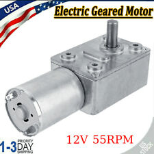 New Listingdc 12v Gear Reduction Motor Worm Reversible Torque Turbo Geared Motor 55rpm Us