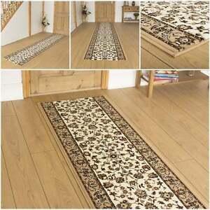 persisch beige l ufer teppich flur traditionell hall extra lang preiswert neu ebay. Black Bedroom Furniture Sets. Home Design Ideas
