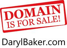 Darylbakercom Domain Name Personal Name For Sale