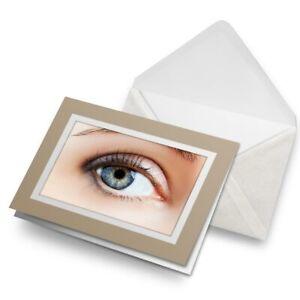 Greetings-Card-Biege-Female-Eye-Opticians-Health-Face-21522