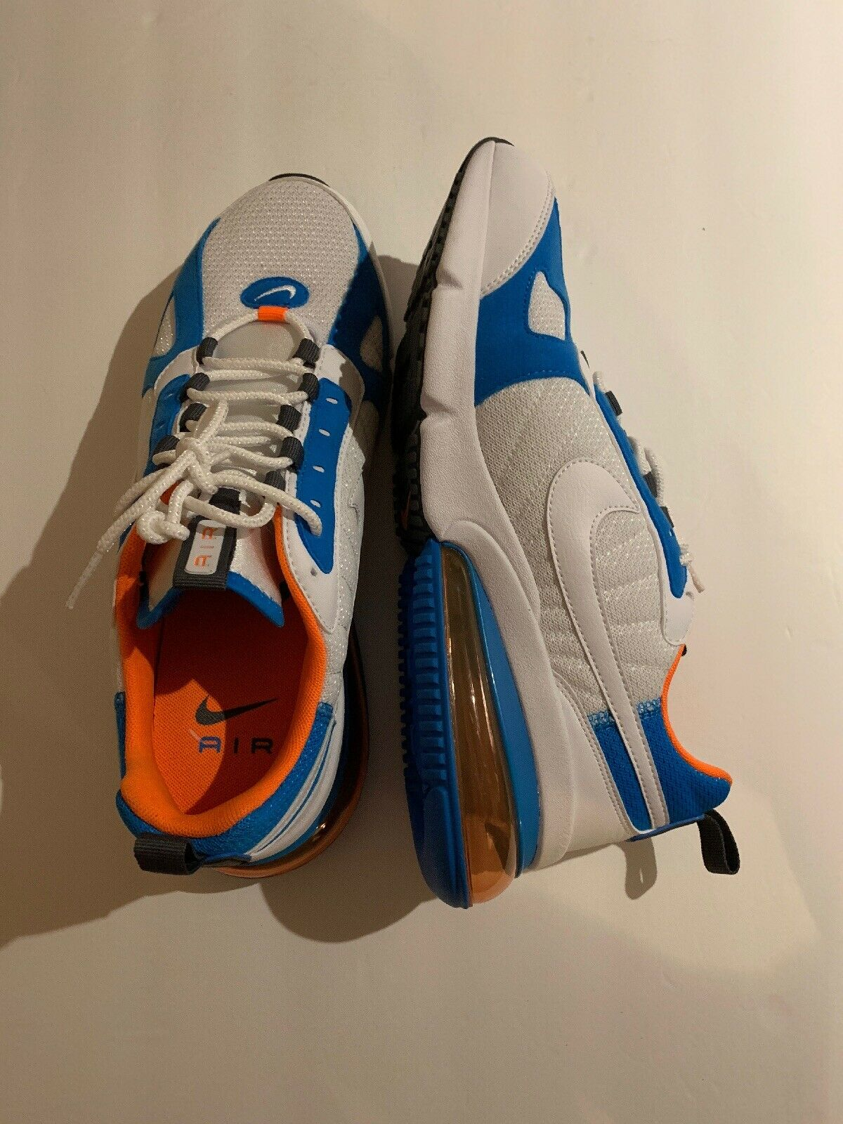 Nike Air Air Air Max 270 Futura Men's shoes bluee White orange Size 13 New 7281c7