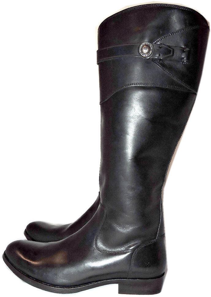 Frye Molly Button Knee High Stivali Riding Tall Equestrian Zipper Booties 8.5