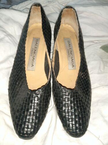 Vtg Balenciaga  Pumps Shoes Black Size 8?