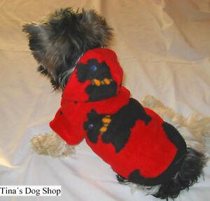 Extra-KLEIN-Gr-XXS-Suesse-Hundebekleidung-Hundemantel-Hundejacke-Hundepullover