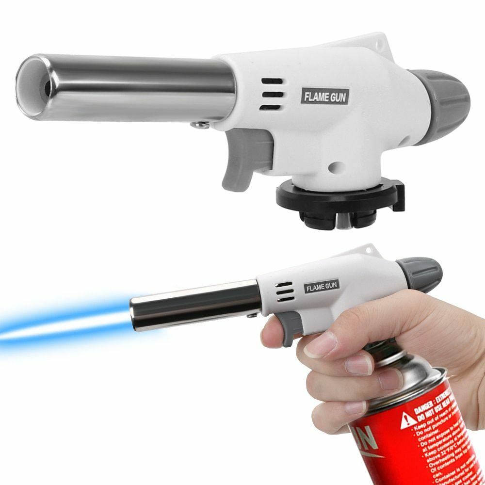 Outdoor Portable Firing Gun Head Gas Butane Burner Ignite Iron Welding Ligh O4J7