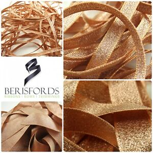 Berisfords-Rose-Gold-Sparkling-Lame-Metallic-Glitter-Ribbon-3-7-15-25-amp-40mm