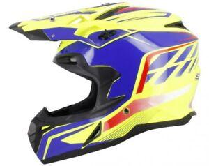 Casque-Integral-Moto-cross-S-line-S820-Jaune-Bleu