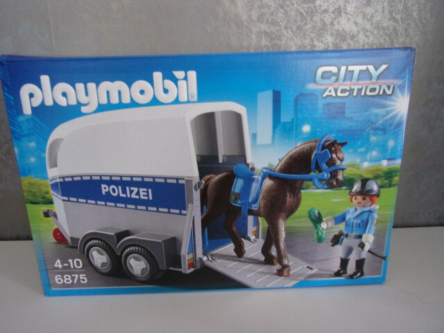 Playmobil City Action 6875 Berittene Polizei mit Anhänger - Neu & OVP