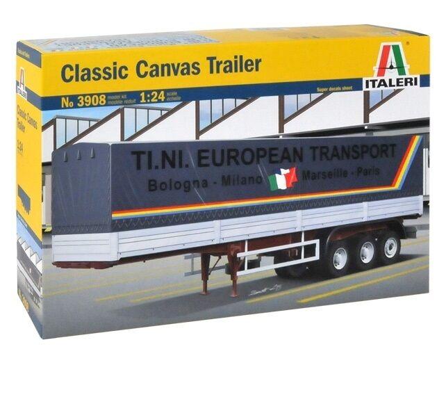 ITALERI 1 24 KIT CANVAS TRAILER CLASSIC LUNGHEZZA 50,5 CM ART 3908