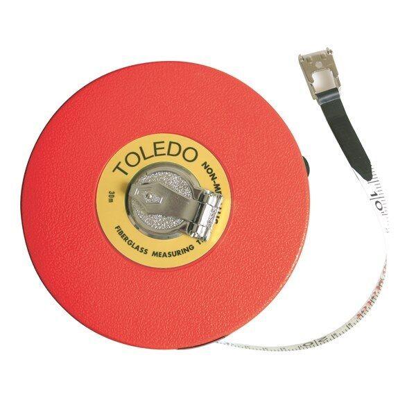 TOLEDO Fibreglass Measuring Tape Metric - 30m TF30M