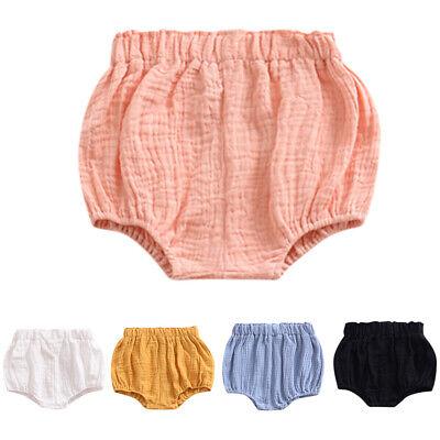 GoodFilling Newborn Toddler Baby Girls Kids Cotton Linen Bloomer Shorts