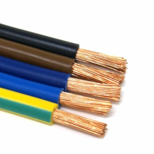 H07V-K 10mm² PVC Aderleitung Verdrahtungsleitung flexibel versch.Farben 1,10€//m