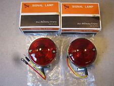 HARLEY PAIR CHROME DOUBLE CONTACT TURN SIGNAL 6 VOLT FL FLH 1964-1984 1M71R6V