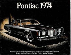 1974 Pontiac Sales Brochure LeMans Grand Prix Catalina