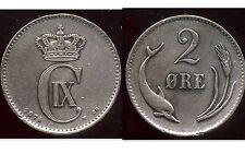 danemark  2 ore 1874