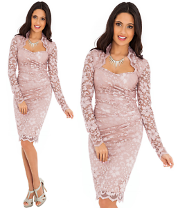 Goddess-Oyster-Scalloped-Lace-Fitted-Wiggle-Pencil-Cocktail-Party-Evening-Dress