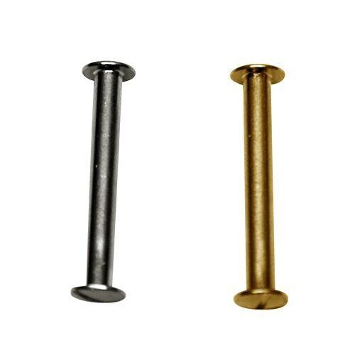 Schraubnieten Gürtelschrauben Buchschrauben Nieten Schrauben 40mm gold 10Stücke