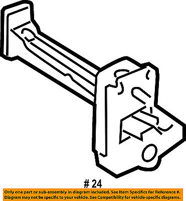FORD OEM-Door Check Arm Stop Hinge Strap DS7Z5427204A