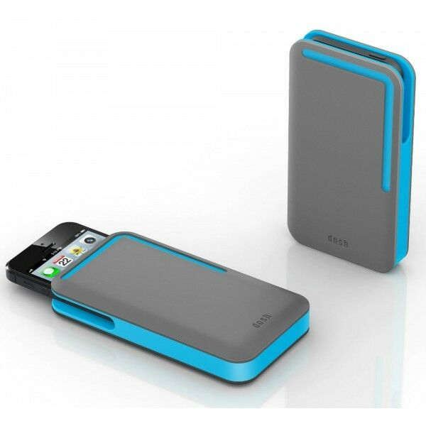 DOSH NEW Rubber iPhone Card Wallet Grey/Blue BNWT
