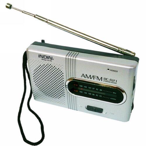 New Portable Pocket Mini AM//FM Telescopic Antenna Battery Powered Receiver Radio