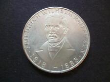 Germany 1968 5 Deutsche Mark silver coin 0.625 near mint birth of Raiffeisen