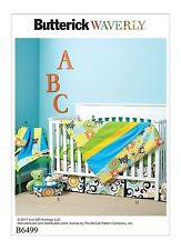 Butterick SEWING PATTERN 6499 Baby Blanket,Quilt,Mattress Cover,Crib Sheet/Skirt
