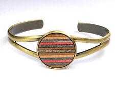 Skateboard Wood Cuff Bracelet Bangle Arm Hand Wooden Handmade Jewellery Womens