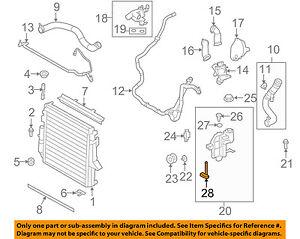 land rover oem radiator coolant reservoir tank level sensor rh ebay com Range Rover Coolant Type 2008 land rover lr2 coolant hose diagram