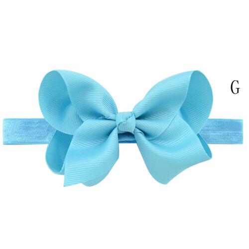 Newborn Baby Girls Toddler Kids Hair Bow Hair Band Headband Grosgrain Ribbon