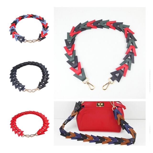 Weave Replacement Bag Strap PU Leather Belt For Handbag Shoulder Bag Accessories