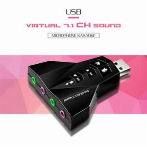 USB 2.0 3D Virtual Audio Sound Card Converter Durable 7.1 Channel Audio Adap-qk