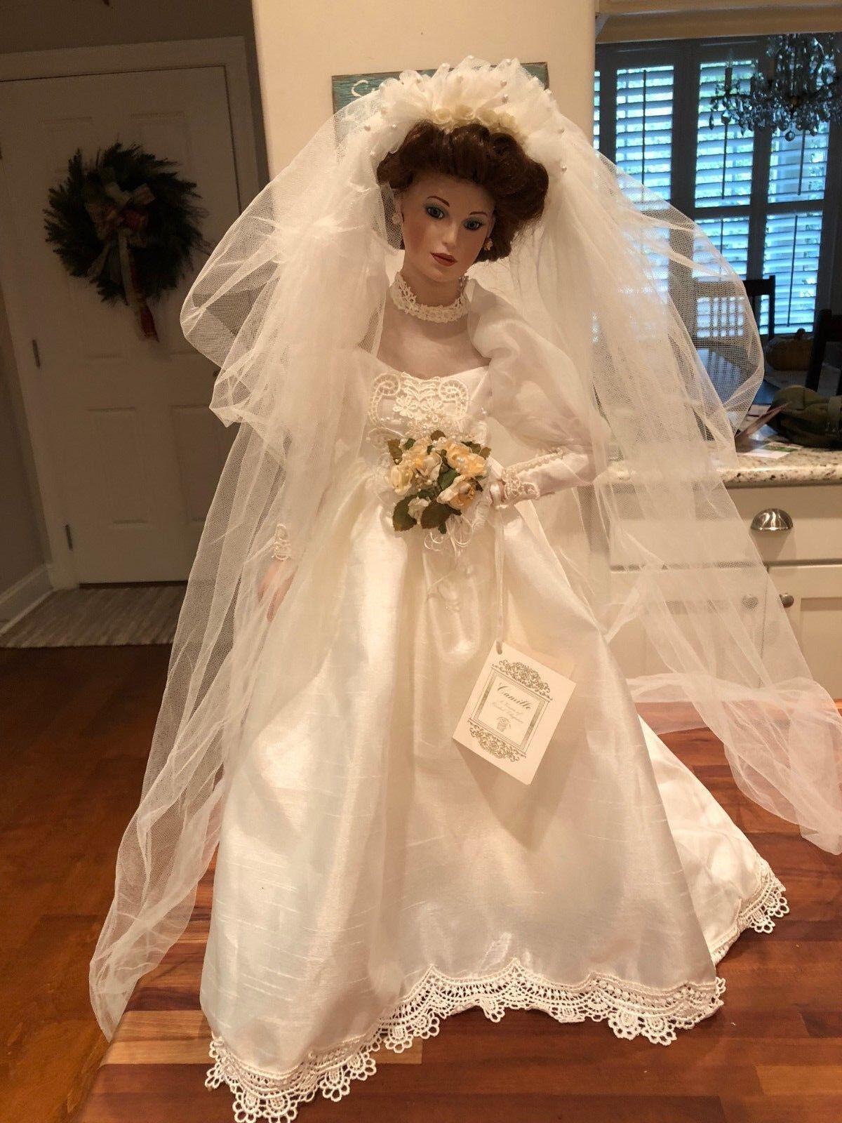 Beautiful Vintage Hamilton Collection Rare Camille Porcelain Bride wedding bambola   acquista la qualità autentica al 100%