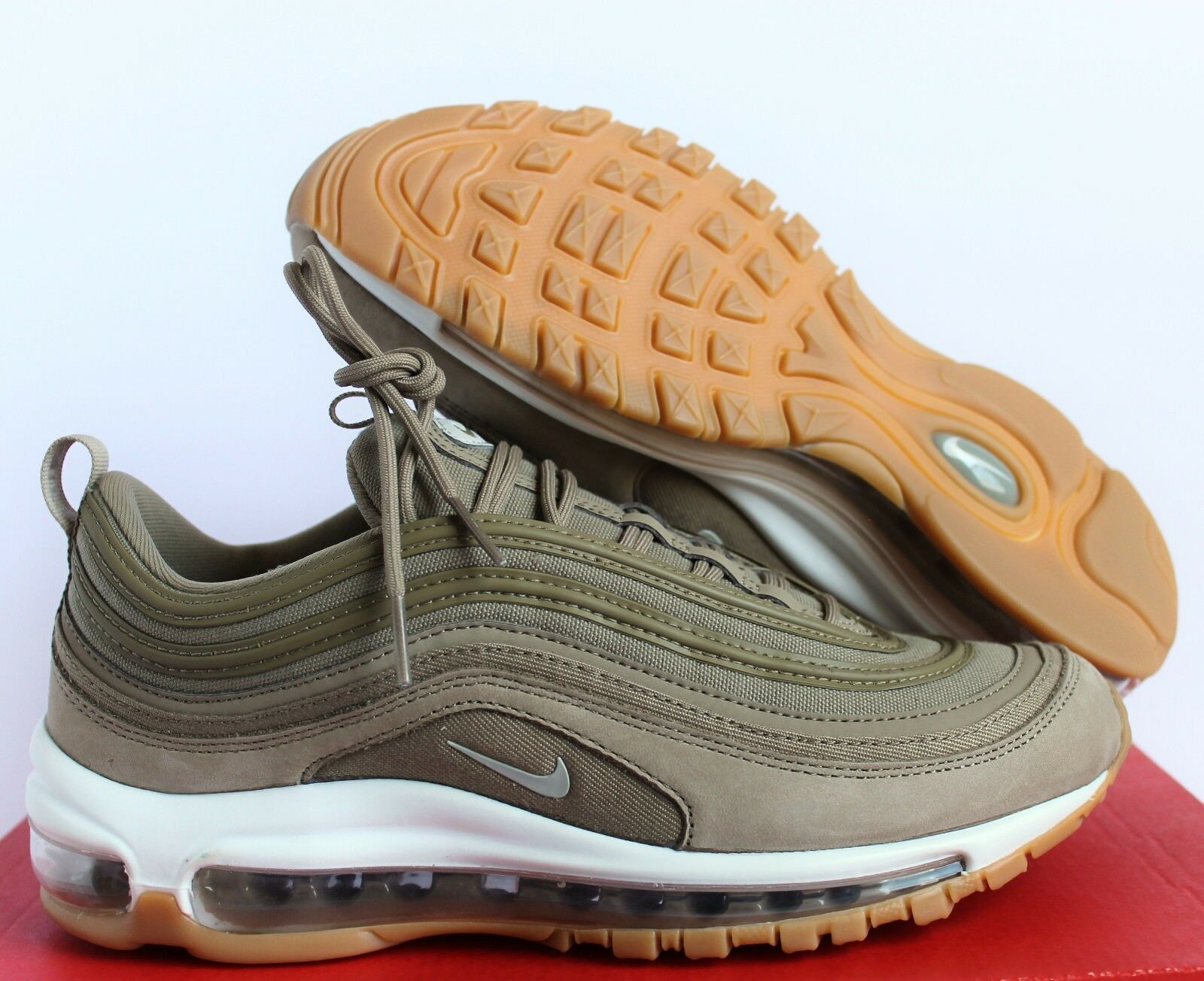 NIKE femmesAIR MAX 97 UL ULTRAKHAKI-LIGHT BONE SZ 9 [AJ2248-200]