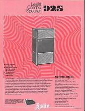 VINTAGE AD SHEET #2143 -  1970s LESLIE COMBO SPEAKER #925