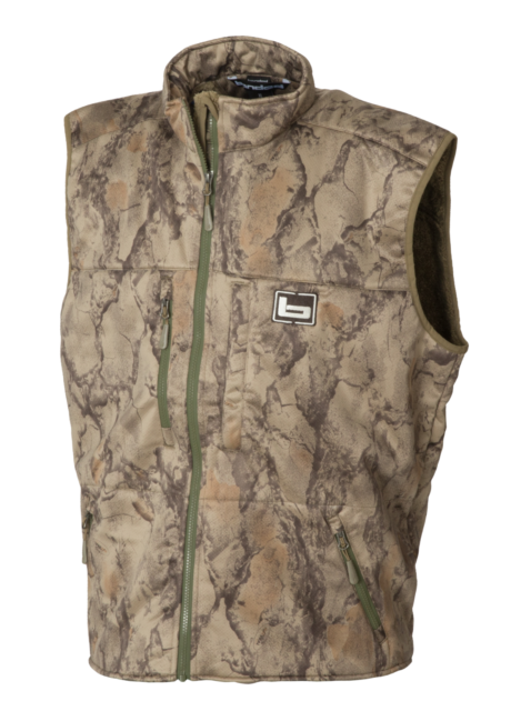 9b2442af7de7b BANDED Atchafalaya Hunting Vest Wind Proof Fleece Lined Natural Gear Camo XL