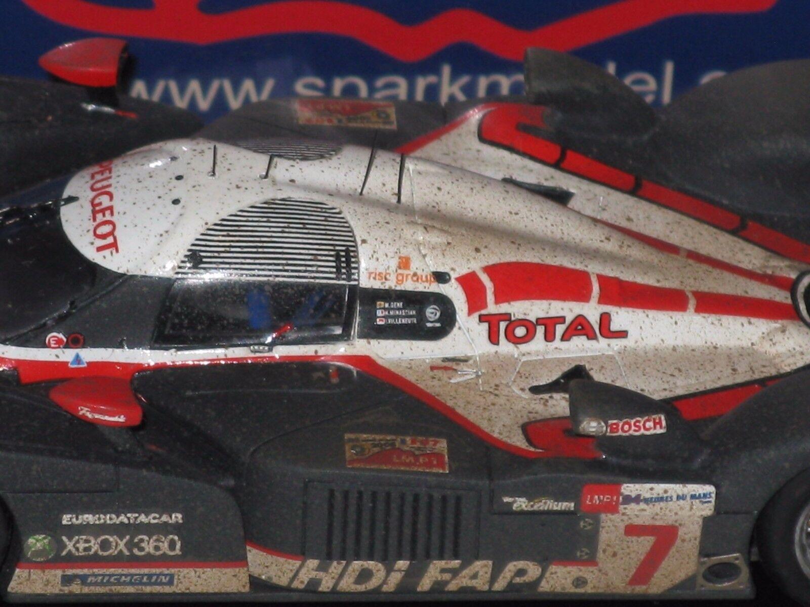 Peugeot Peugeot Peugeot 908 LM 2008 -Villeneuve - Gene - Le Mans  Dirty model - 1 43 F1  spark 118624