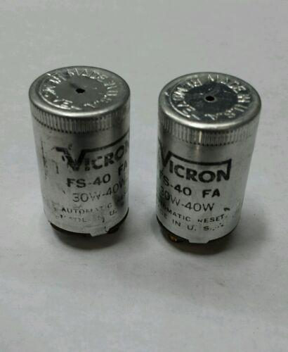 Lot Of 2 Vicron FS-40 30W-40W Florescent Lamp Starter Condenser