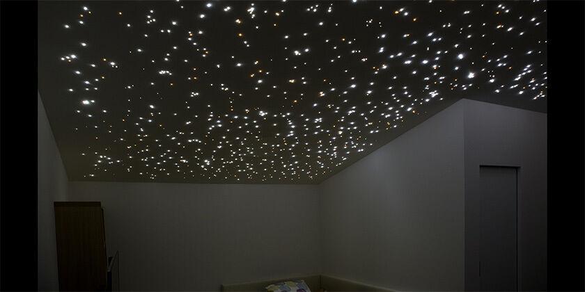 KIT FIBRA óptica CIELO STELLATO 300 PUNTOS 5m LED blancooO NEUTRO 9w