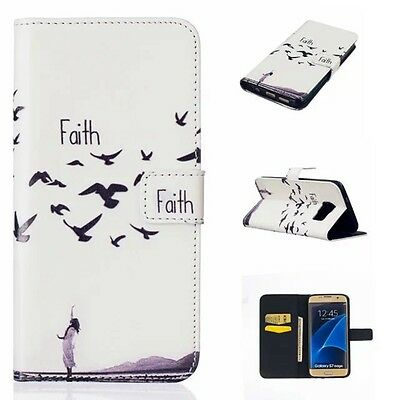 Luxury Flip PU Leather Wallet Card Stand Phone Case Cover For Samsung S6 S7 Edge