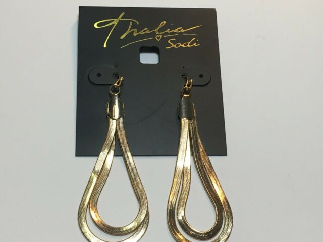 Thalia Sodi Earrings Gold Tone New Over Stock With Tags E87970G