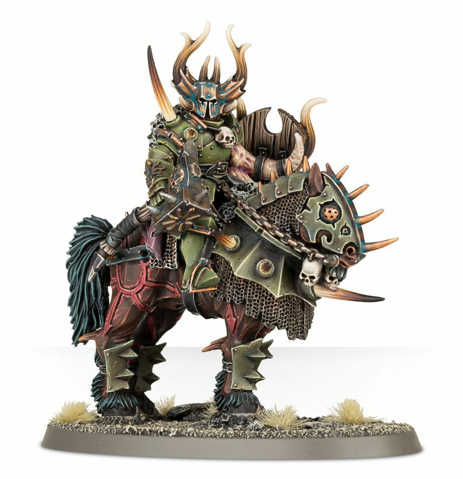 Warhammer Age of Sigmar Lord Lord Lord on Daemonic Mount resin box new c1d9d7