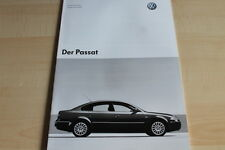 132761) VW Passat - technische Daten & Ausstattungen - Prospekt 05/2003