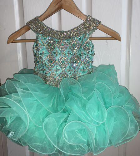 Mint Little Rosie Cupcake Pageant Dress