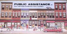 Public Assistance Board Game Vintage 1980 Welfare Banned Adult RARE SEALED!!