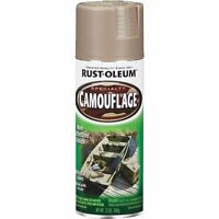 6 Pack Rustoleum Camouflage Spray Paint - Khaki/green/brown - Free Shipping