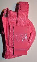 Taurus Pt-22,pt-25 |l Nylon Gun Holster Pink +free Makeup Palette