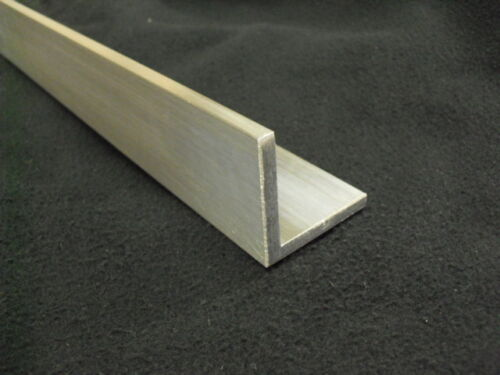 "1//4/"" Aluminum Angle 2/"" x 2/"" x 36/"" long architectural 6063 Mill Finish"