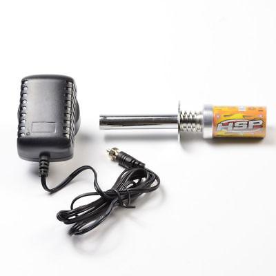 RC Nitro Starter Kit Glow Plug allumeur avec chargeur pour HSP 1:10 Contrôle Radio Truck Buggy voiture