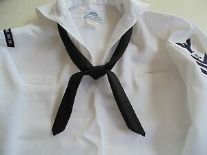 US NAVY USN Dress Blues//Whites Pre-Rolled NECKERCHIEF ORIGNAL MILITARY ISSUE